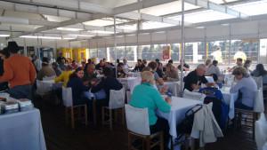 Restaurante da Padaria e Confeitaria Bruxel, de Estrela, registrou grande movimento nos quatro dias da feira